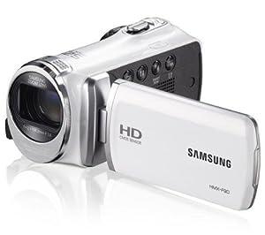 SAMSUNG Caméscope HMX-F90 - blanc + Carte mémoire SDHC - 8 Go Classe 10 (LSD8GBBBEU200C10)