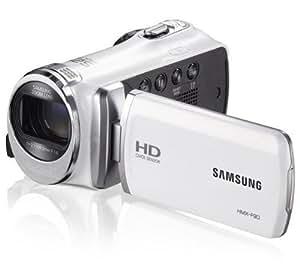 SAMSUNG Caméscope HMX-F90 - blanc + Etui - Taille M + Carte mémoire SDHC Premium Series - 16 Go Classe 10 (LSD16GBBEU200)