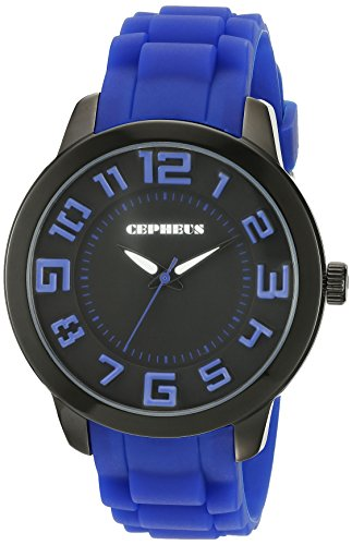CEPHEUS CP604-623 - Reloj analógico de cuarzo para mujer con correa de silicona, color azul