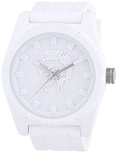 Diesel  dz1590 - Reloj de cuarzo para hombre, con correa de goma, color blanco