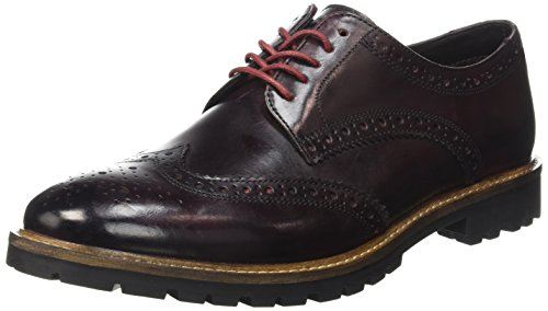 Base LondonTrench - Scarpe stringate Uomo , Marrone (Marron (Washed Bordo)), 44