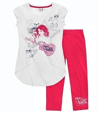 Disney Violetta T-Shirt avec caleçon fushia (14 ans)