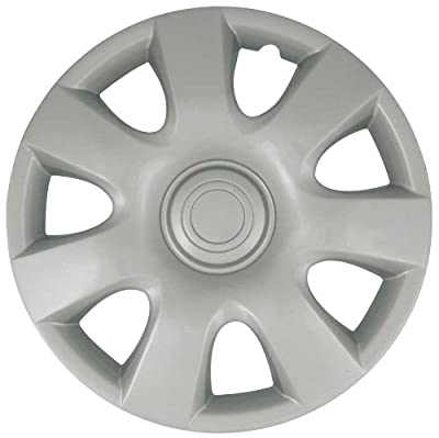 CCI IWCB944-15S 15 Inch Clip On Silver Finish Hubcaps - Pack of 4