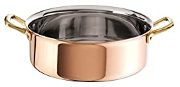 Paderno World Cuisine Copper-Stainless Steel Rondeau Pan, 4 1/2-Quart