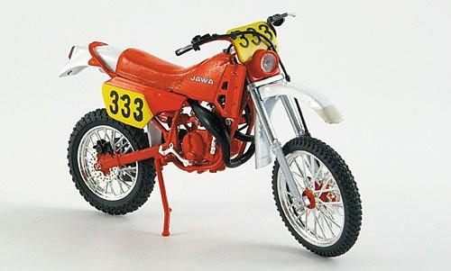 Jawa 250 Typ 681 Enduro, rot, 1987, Modellauto, Fertigmodell, Abrex 1:18