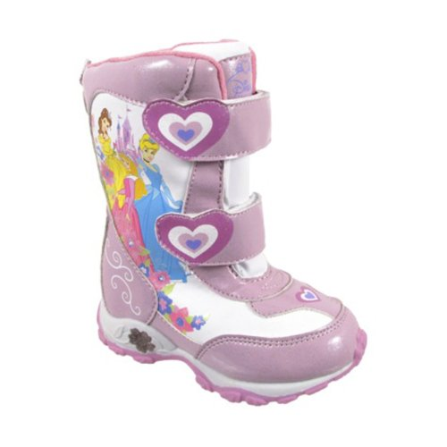 "Disney Princess ""Cinderella, Belle & Aurora"" Pink Toddler Winter Snow Boots"