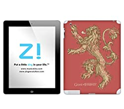Zing Revolution Game of Thrones Premium Vinyl Adhesive Skin for iPad 2/ iPad 4, Lannister S2 Image, MS-GOT100351