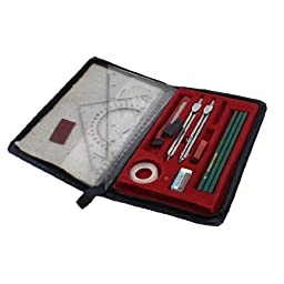 uxcell® Student Plotter Combo Mapper Mechanical Drawing Instruments Compass Set