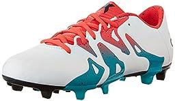 adidas Performance Women\'s X 15.3 FG/AG W Soccer Cleat,White/Shock Green/Black,7.5 M US