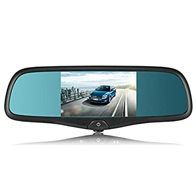 "AUTO-VOX 5"" Capacitive Touch Screen Rearview Mirror with GPS Navigation Vehicle Dashcam Bluetooth / FM / Mp3 & Mp4 Multimedia Support Backup Camera include Original Style Bracket for Ford F-Series pickup Silverado Chevrolet Silverado and ect. from The Rea"