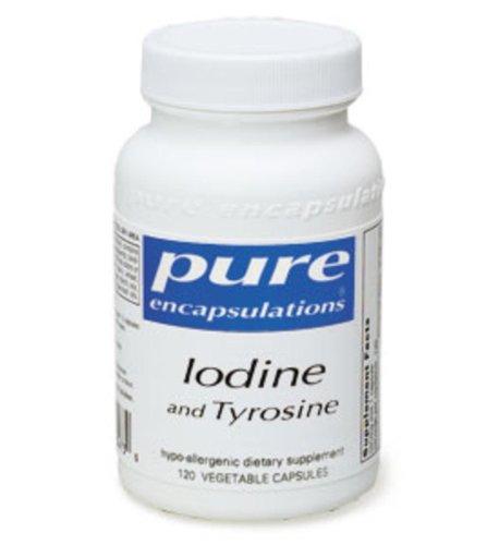 Pure Encapsulations - Iodine And Tyrosine 120 Vcaps