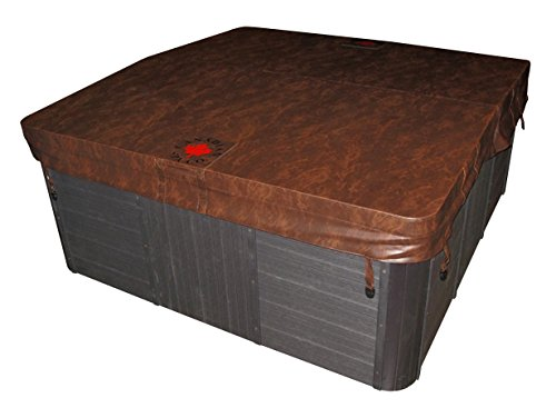 Marron, 208,3x 208,3cm Canadien Spa Jacuzzi pour-5/7,6cm Fuseau Ratio-Haute Caractéristiques