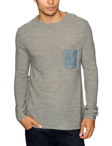 Cottonfield Coach Men's Jumper Medium Grey Mel Small