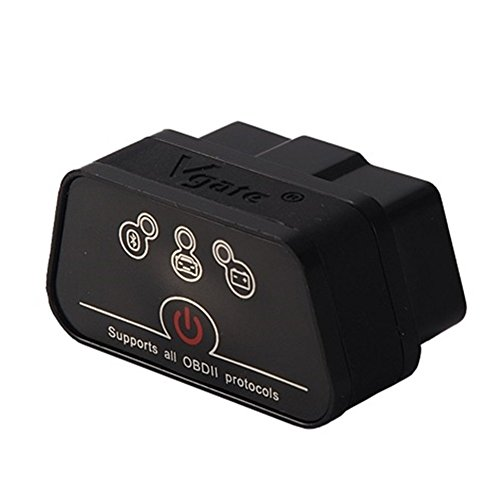 Vgate icar2 Bluetooth3.0 Code Reader,Car Diagnostic Scanner, Mini ELM327 OBD2/OBDII Scanner for Torque Android/PC(Black) (Bt Auto Diagnostic compare prices)