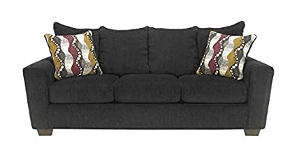Chenille Sofa in Ebony