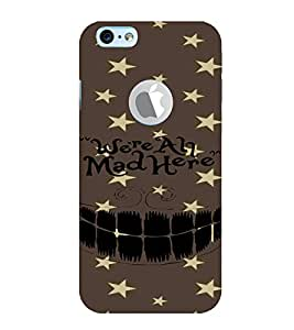 PrintVisa Quotes & Messages Funny 3D Hard Polycarbonate Designer Back Case Cover for Apple iPhone 6 Logo