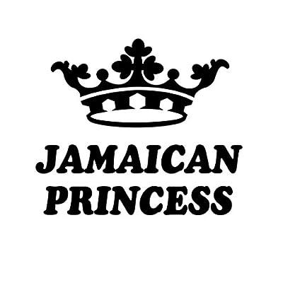 ShirtMania - JAMAICAN PRINCESS Girly Girl Car Laptop Wall Sticker