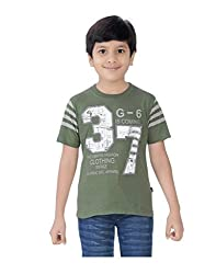 Mint Olive Cotton Boy's t-shirt