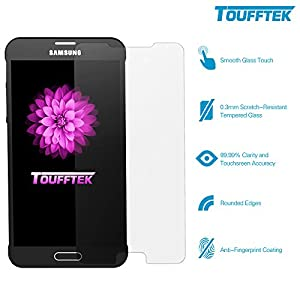 TouffTek Premium HD Tempered Glass Screen Protector for Samsung Galaxy Note 5, 99.99% Accuracy, 0.3mm - 5 Piece
