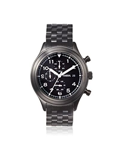 Fossil Men's JR1439 Compass Black Stainless Steel Watch