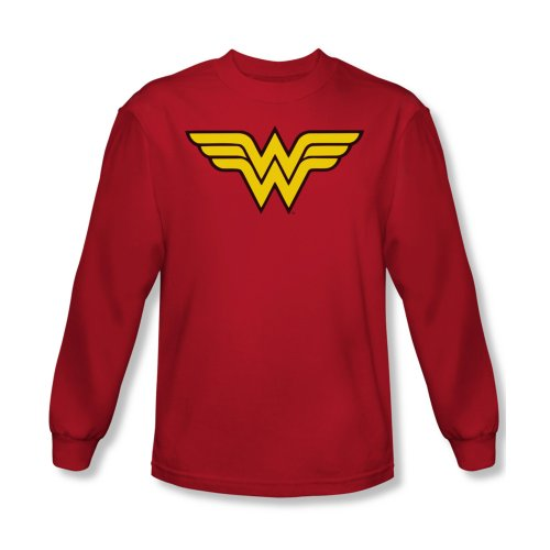 Wonder Woman Logo Adult Long-Sleeve T-Shirt