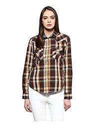 Yepme Women's Brown Polyester Tops - YPWTOPS1361_L