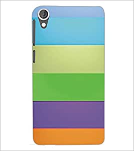 PrintDhaba Pattern D-5367 Back Case Cover for HTC DESIRE 820 (Multi-Coloured)