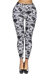 Amour Women's Pattern Leggings Cotton Stretch Pant