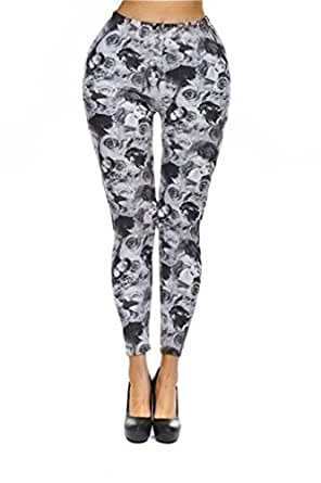 Amour- Women's Pattern Leggings Cotton Stretch Pants - Many Designs (01)