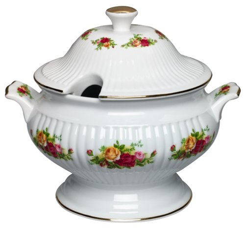 Royal Albert Old Country Roses Covered Vegetable Tureen