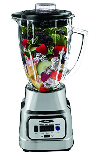 Oster Pure Blend 300 Blender with Glass Jar - Brushed Nickel