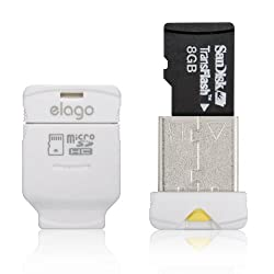 ELAGO Nano Mobile Micro SD Reader-World Smallest (EL-RD-012,White)