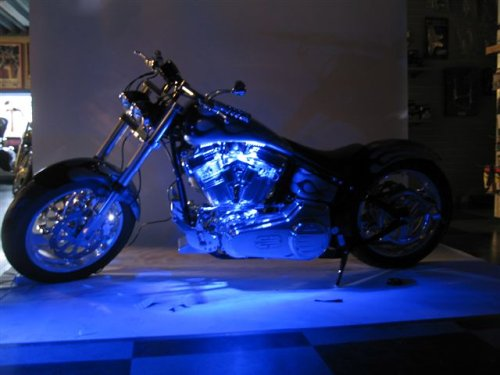 Blue LED Neon Motorcycle Lighting Kit