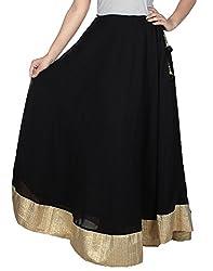 Ambitione Designer Women Black colored Skirt_M