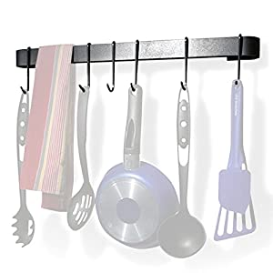 Enclume MPU-13 RACK IT UP Utensil Bar Pot Rack, with 8 Hooks
