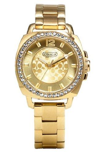 COACH 'Boyfriend' Crystal Bezel Bracelet Watch, 35mm
