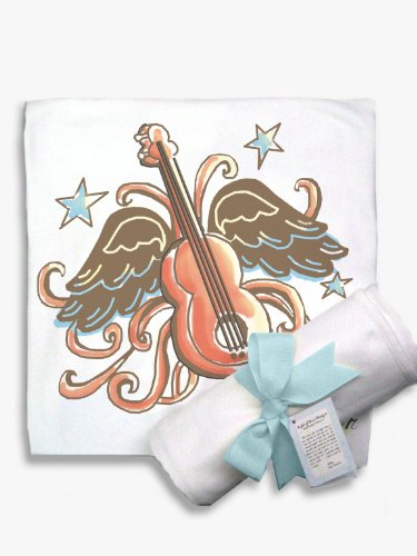 Light of Mine Designs Rock Star Guitar Receiving/Swaddling Blanket