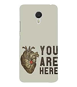 EPICCASE pumping heart Mobile Back Case Cover For Meizu M3 Note (Designer Case)