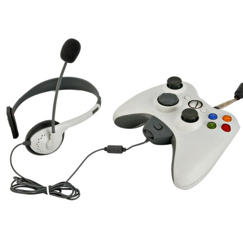 1 Pc Game Headset with Microphone Mic Compatible with Microsoft Xbox 360 and Xbox Live White электронный ключ microsoft золотой статус xbox live gold 3 месяца