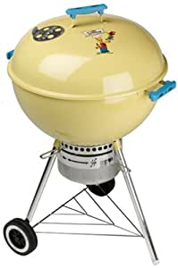 Weber 758098 22-1/2-Inch One-Touch Gold Charcoal Kettle--The Simpsons 10th Anniversary Limited Edition Grill (Discontinued by Manufacturer)