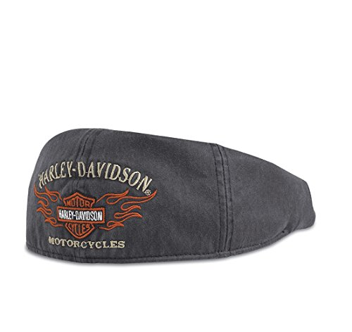 harley-davidson-flame-graphic-99537-11vm-mens-hat-ivy-cap-black-l