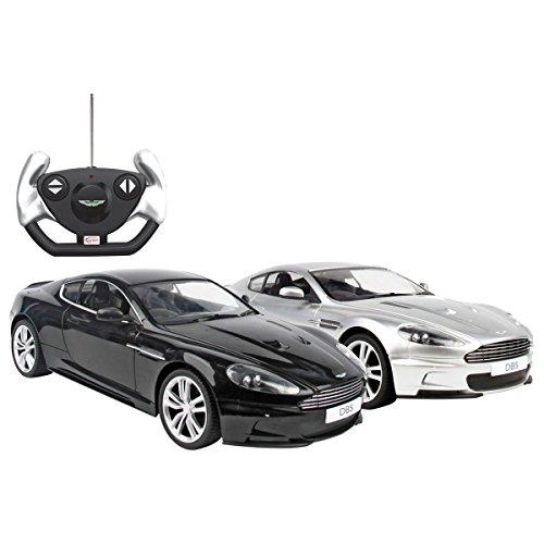 Aston-Martin-DBS-Ferngesteuertes-Modell-Auto-114-lizenziert-Schwarz