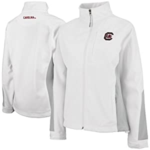 South Carolina Gamecocks Ladies Lightweight White Winter Jacket by Colosseum