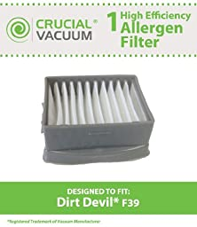 1 Dirt Devil F39 Filter; Fits Dirt Devil Gator; Compare to Part # 2DT0880000; Designed & Engineered by Crucial Vacuum by Crucial Vacuum