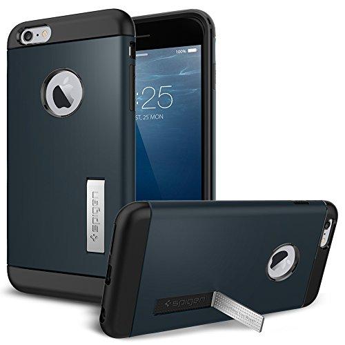iPhone 6 Plus ケース, Spigen® [ スリム+保護力+個性 ] スリム アーマー Apple iPhone (5.5) アイフォン 6 プラス カバー (国内正規品) (メタル・スレート SGP10901)