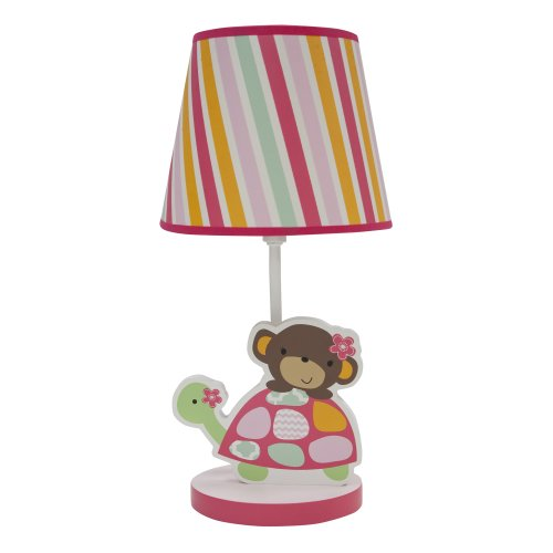 Bedtime Originals Lamp With Shade And Bulb, Jungle Sweeties front-701441