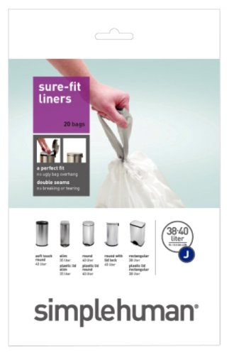 38/40 Litres Coderubbish Bin Liners (set Of 20) [set Of 2] By Simplehuman