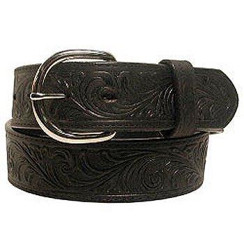 Classic Western Tooled Leather Belt