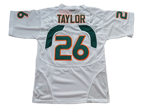 2016-2017 Sean Taylor #26 Kids/Youth College Football Jersey White X-L (Miami College Football Jersey compare prices)