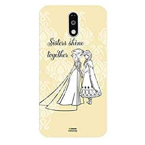 Hamee Disney Princess Frozen Official Licensed Designer Cover Hard Back Case for Lenovo K5 Note (Elsa Anna / Sisters Shine)